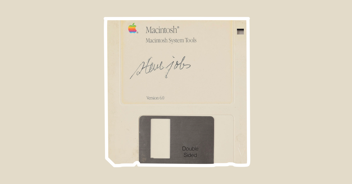 Floppy Disk Signed by Steve Job Auctioning at $7,500