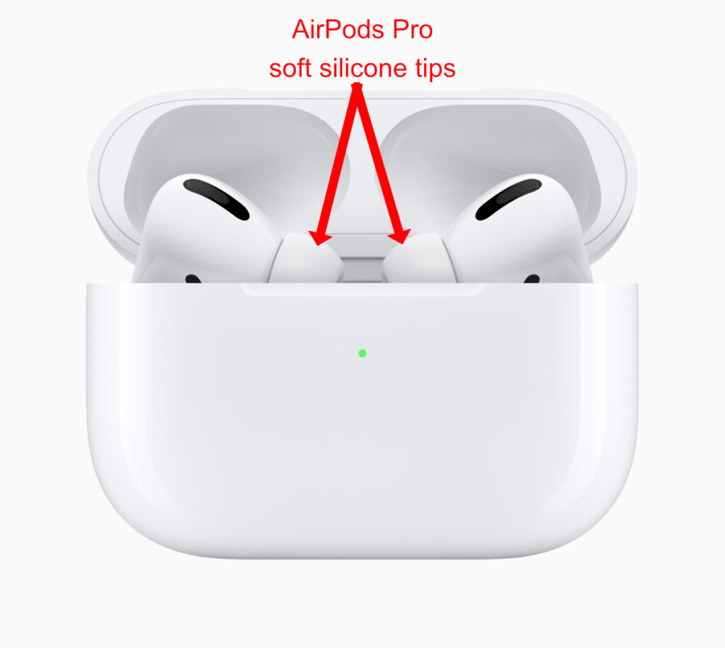 AirPods Pro have soft silicone ear-tips that seal out ambient noise.