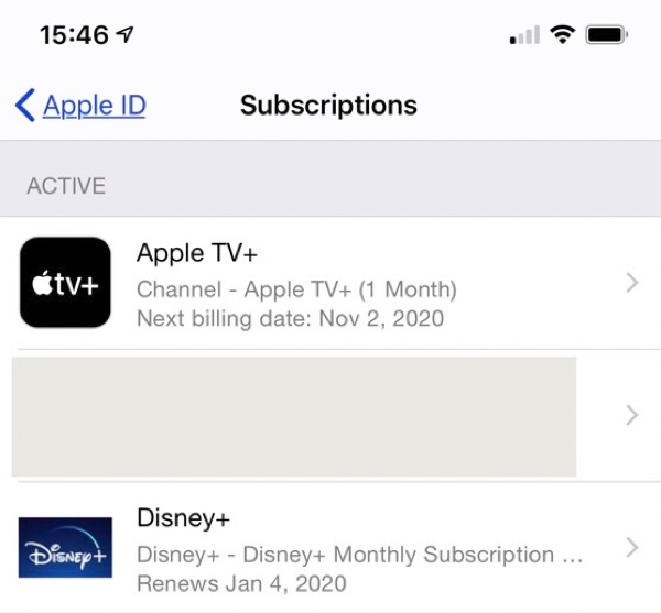 Disney+ sub.