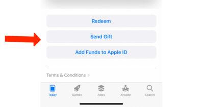 Send Gift menu