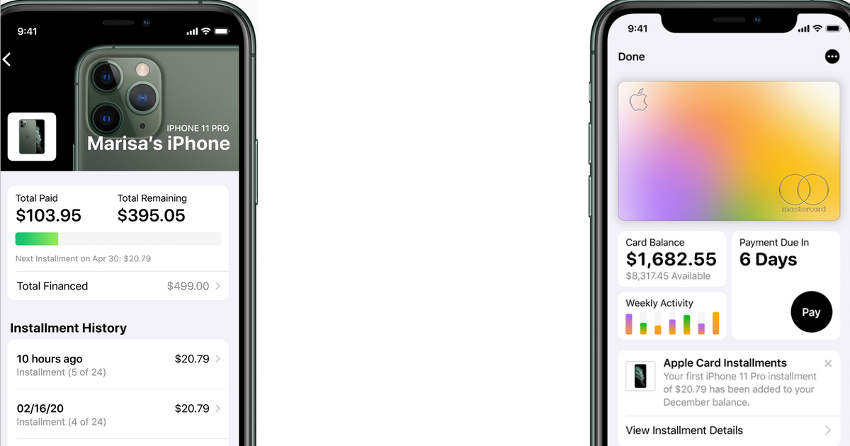iPhone Pay Monthly Apple Card