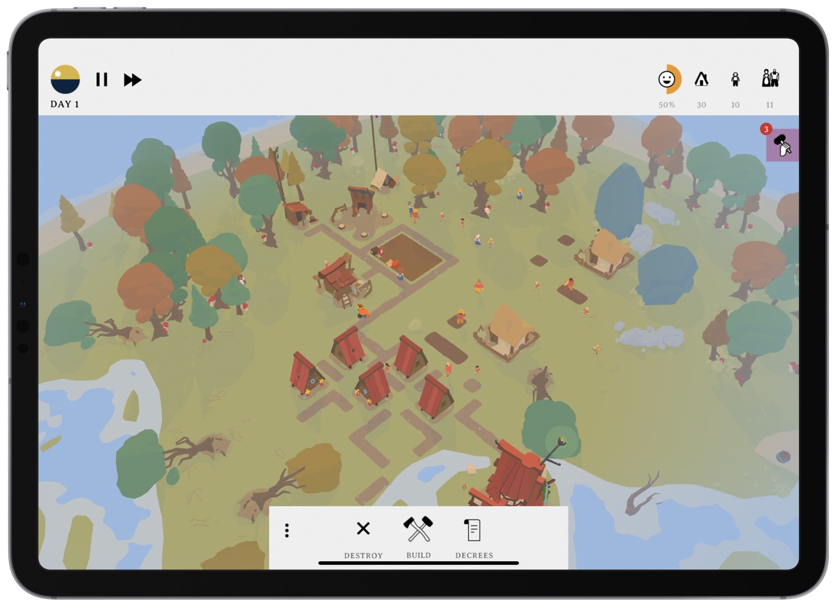 Screenshot of villagers in survival game outlanders