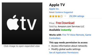 Apple TV Plus Apple for Amazon Fire devices