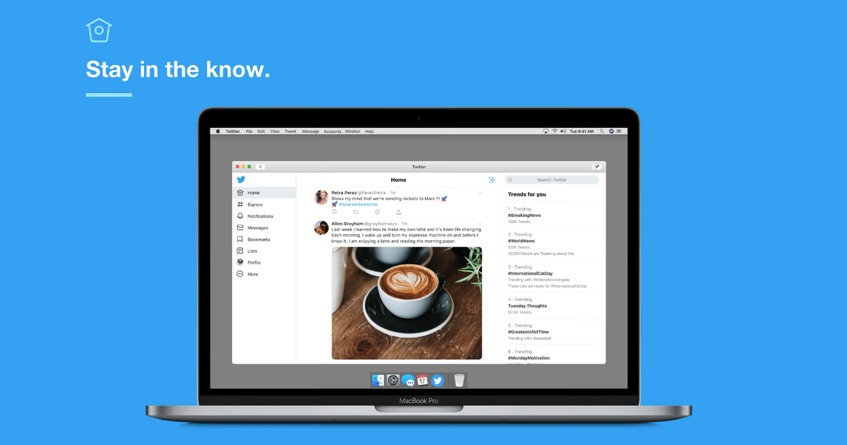 Twitter Adds Touch Bar And Sidecar Support to Official Mac App