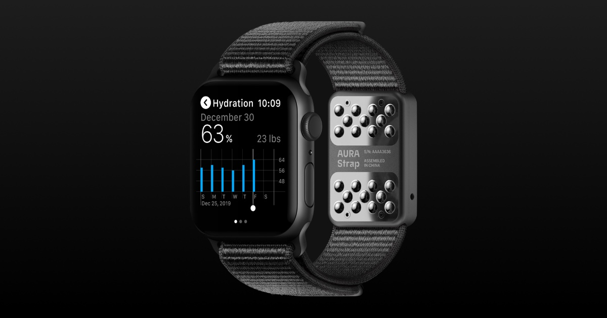 Image of aura strap on Apple Watch