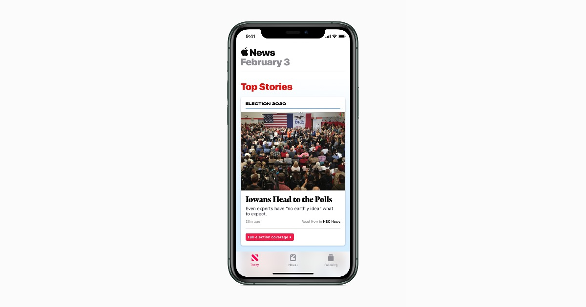 Apple News Presidential ccoverage