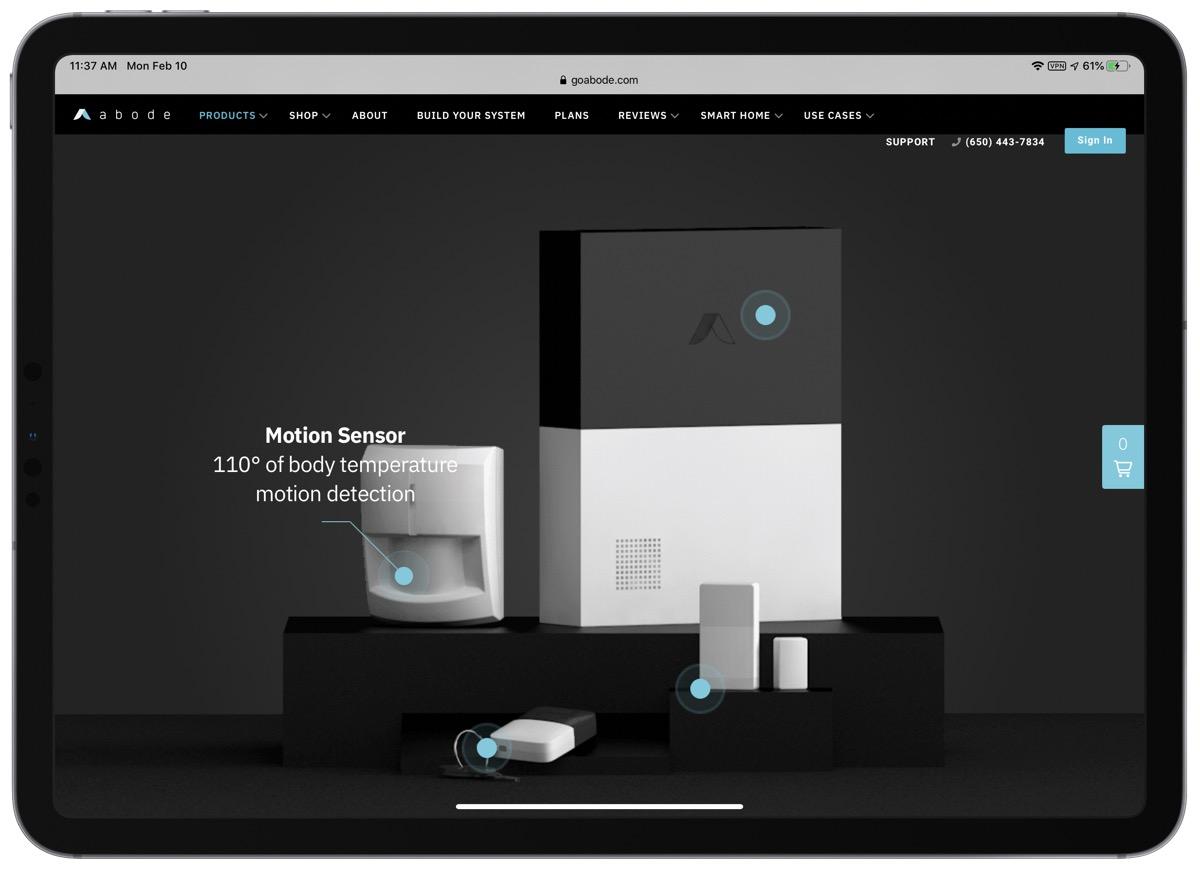 Abode security kit screenshot