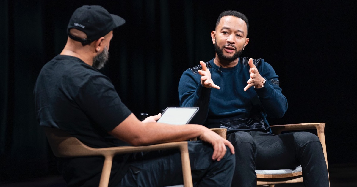 John Legend Speaks at Apple Park