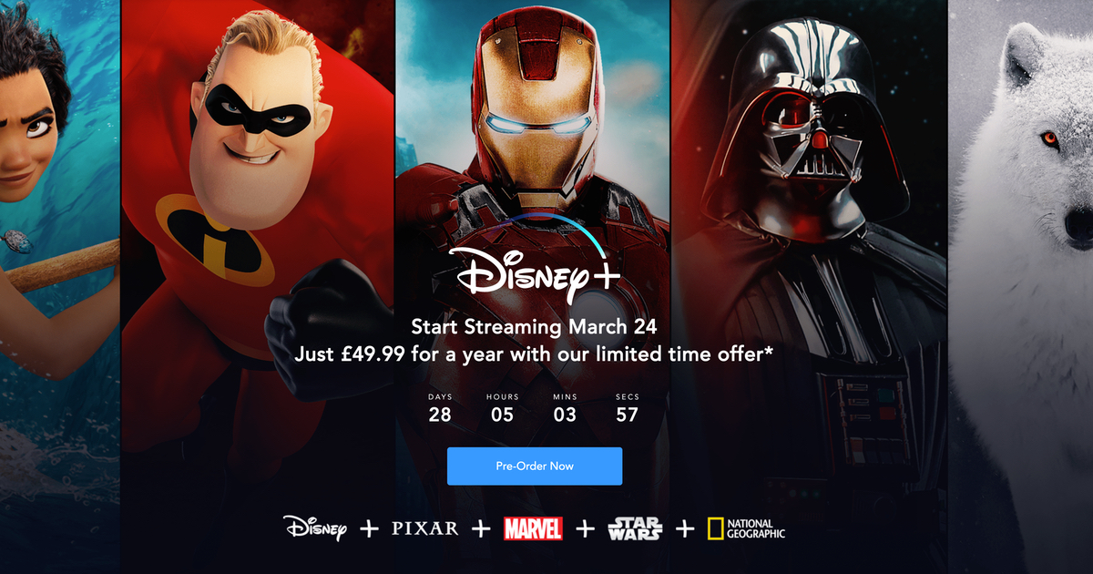 UK Users Can Get a Year of Disney+ for £49.99