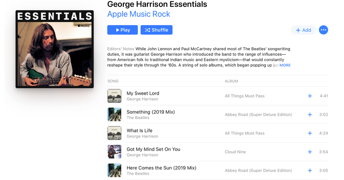 Celebrate Beatles Icon George Harrison's Birthday With This Apple Music 'Essentials' Playlist