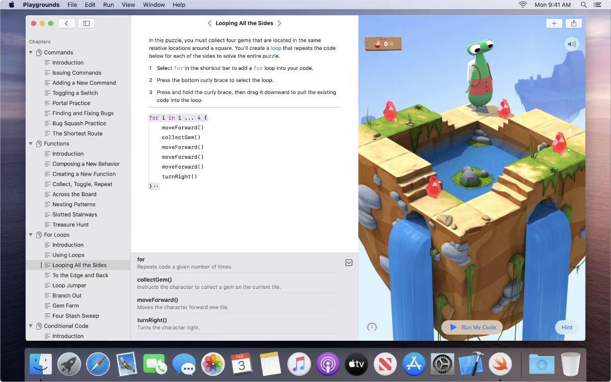 Swift playgrounds on macOS