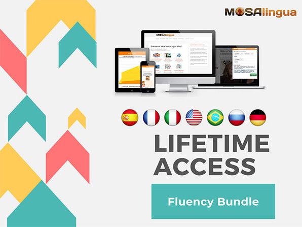 MosaLingua Language Learning Fluency Bundle Lifetime Subscription: $99