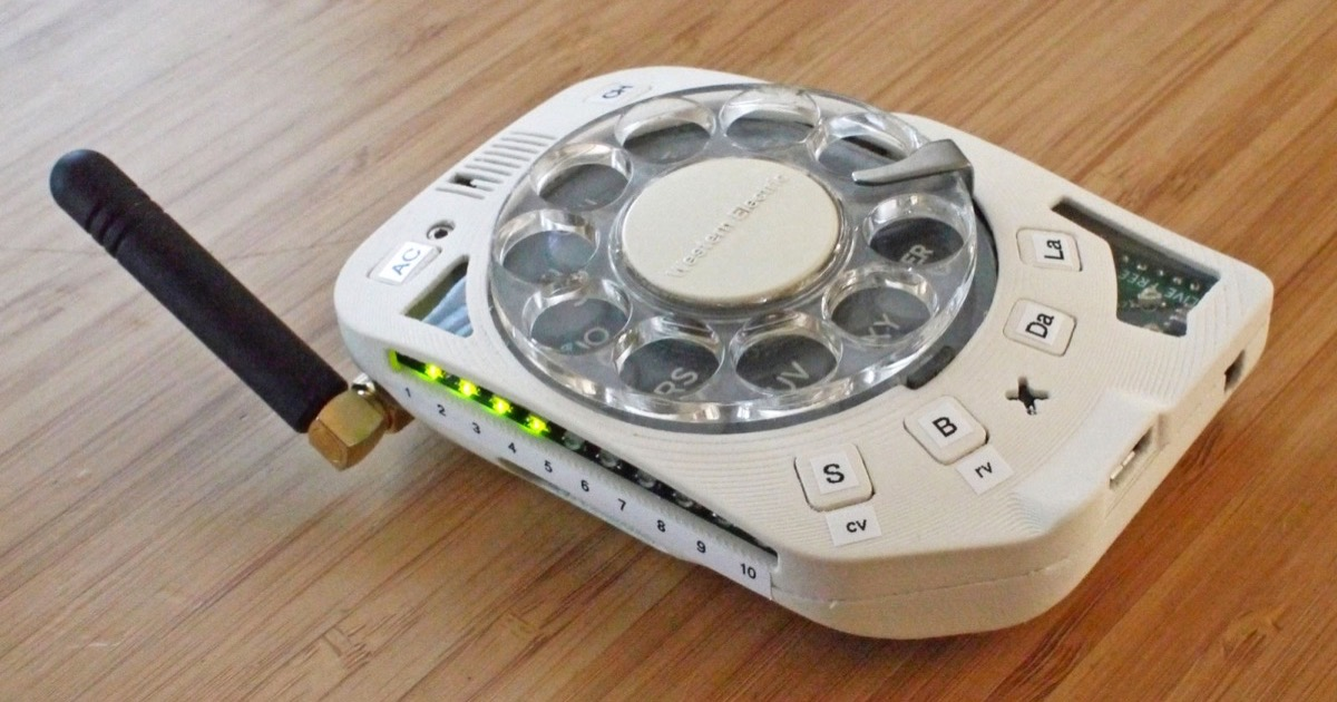 Check Out This Cellphone With a Rotary Dialer