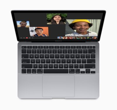 Image of the 2020 MacBook Air with magic keyboard