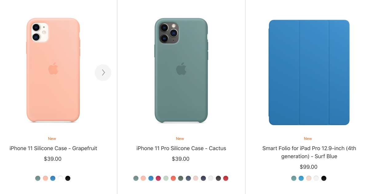 Acessory Seasonal Colors for iPhone and iPad Pro cases
