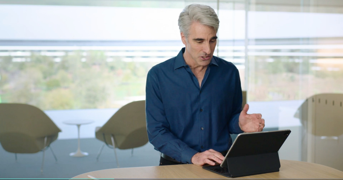 Craig Federighi Demonstrates Trackpad Support in iPadOS