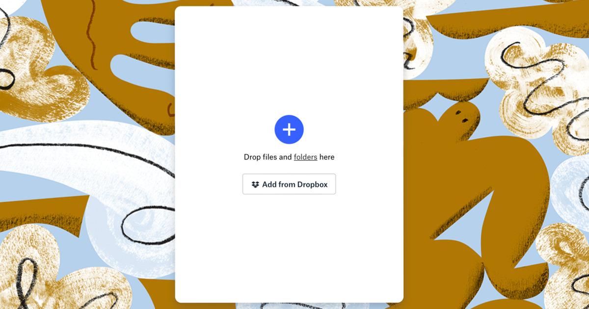 Dropbox Transfer screeb
