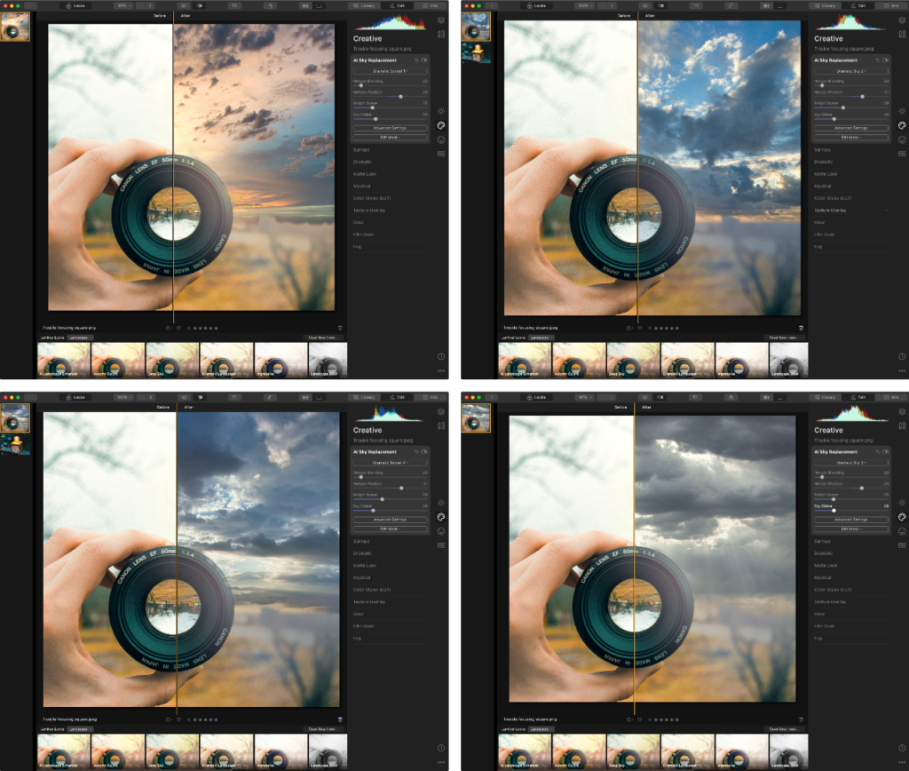 Sky Replacement AI in Luminar X 4.