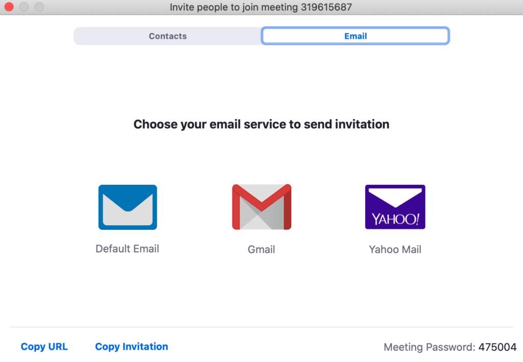 Zoom invite