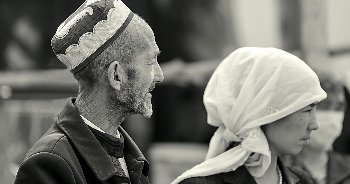Male and female Uyghur Muslims