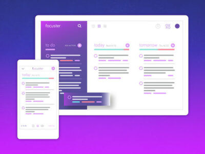 Focuster productivity app screenshots