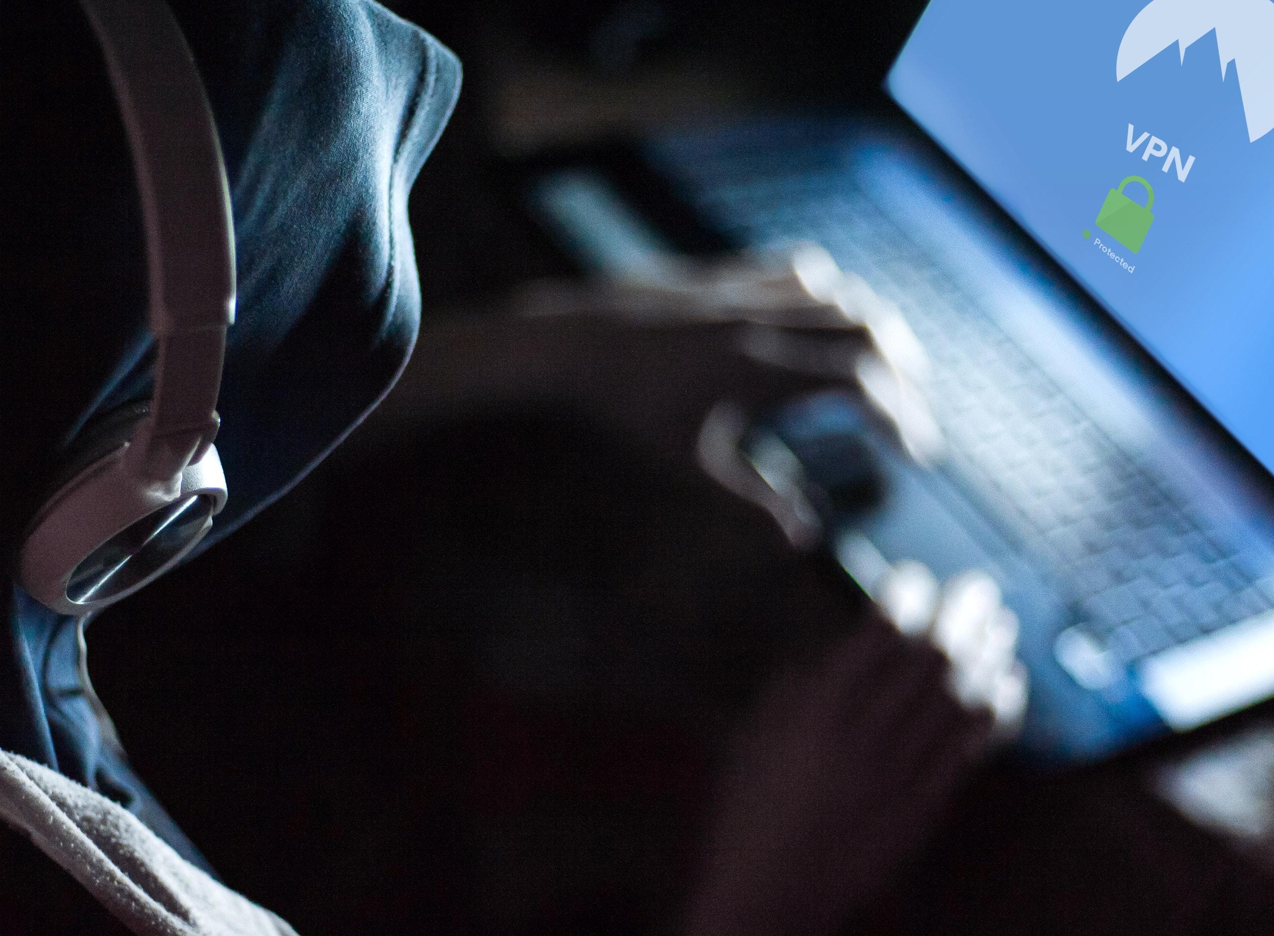hoodie, headphones, computer, vpn