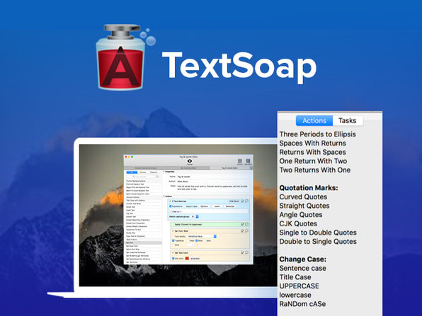 Automate Tedious Text Document Cleanup with TextSoap for Mac: $19.99