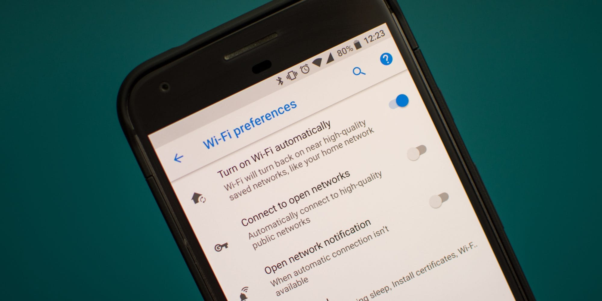 android phone wi-fi preferences