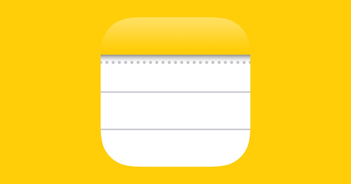 Apple notes app icon
