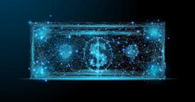 Image of a digital dollar