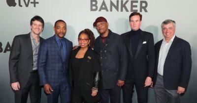 Cast of Apple TV+ film the banker