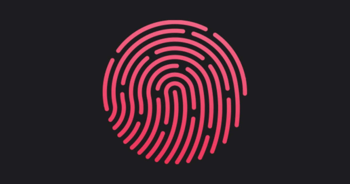 Touch ID fingerprint icon