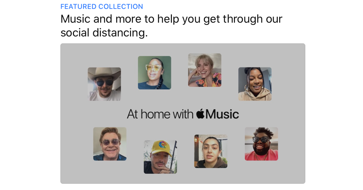 Apple Music Offers Insight Into Popstars Lockdown Lives With 'At Home' Collection