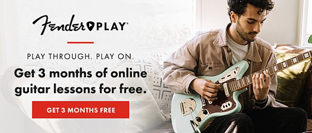Learn to play guitar, bass, or ukulele free for 90 days courtesy of Fender.