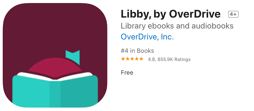 Check out books and audiobooks from your public library with Libby.