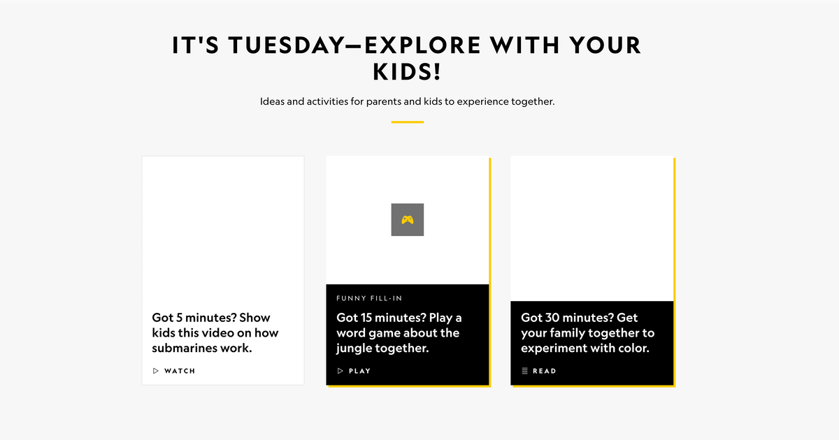 NatGeo@Home – Home Education Hub from National Geographic