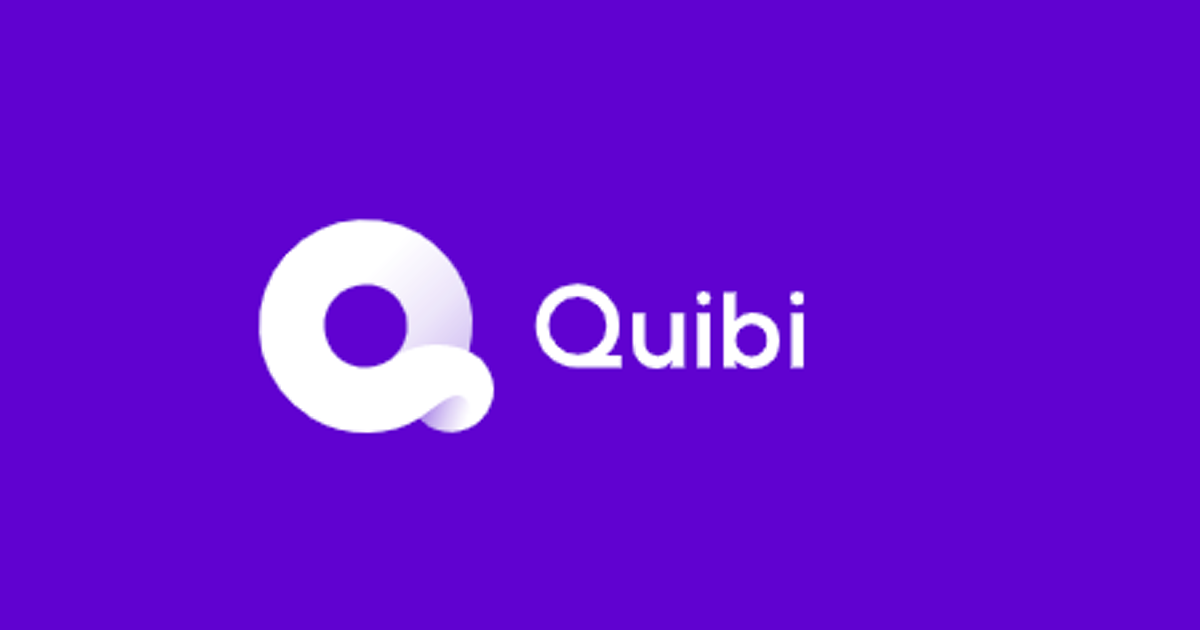 Quibi logo on purple background