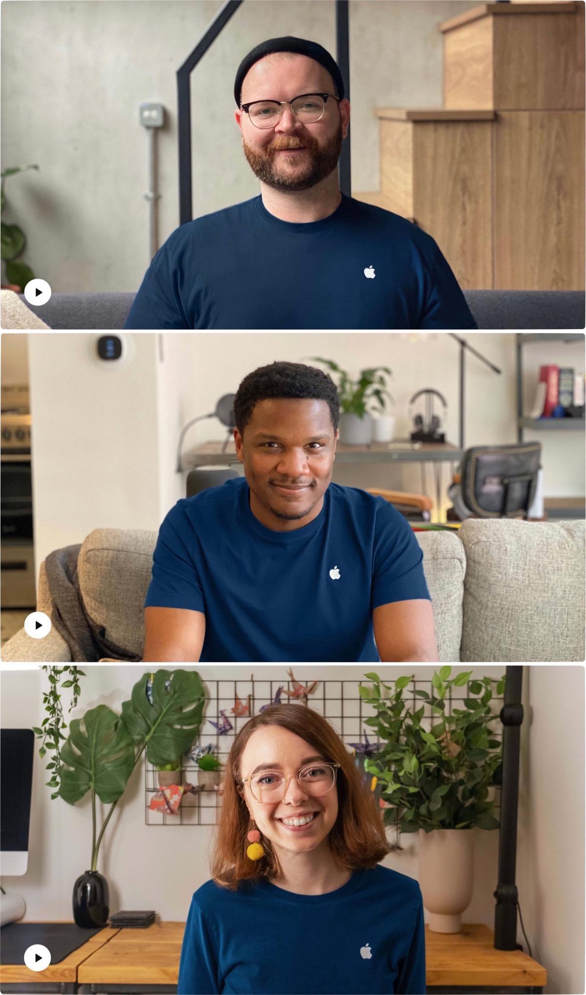 Image of three apple retail employees