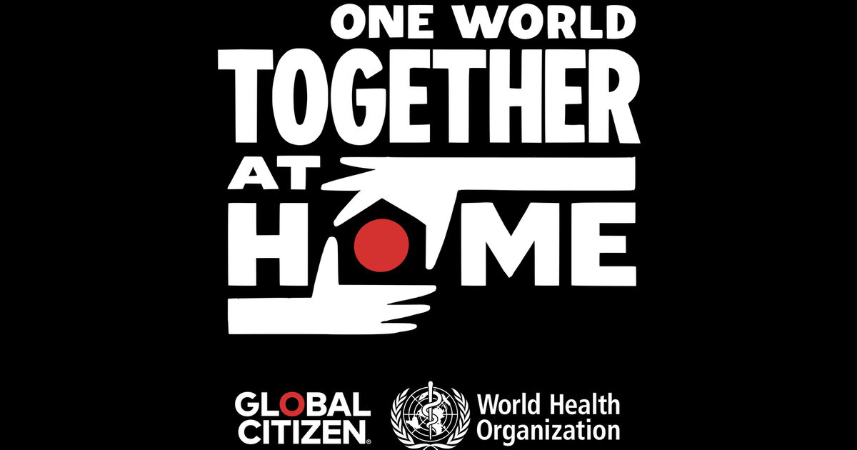 World One Together COVID-19 broadcast logo