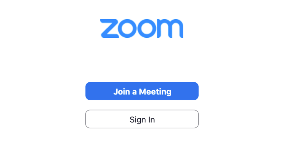 Zoom sign in page