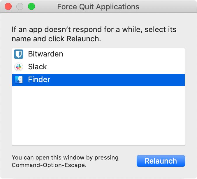 Force quit a mac app