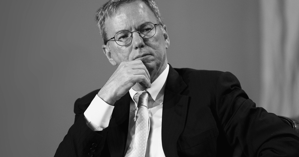 Eric Schmidt Says Coronavirus Should Make You Grateful For ...