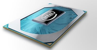 A photo shows Intel's new 10th Gen Intel Core H-series processor. Intel Corporation released the new processor family on on April 2, 2020. (Credit: Intel Corporation)