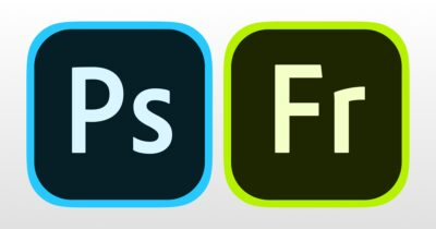 Logos of photoshop and adobe fresco apps