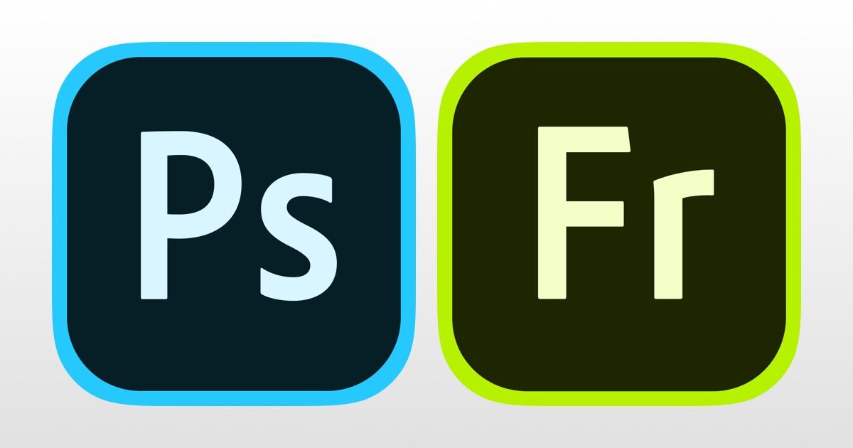 Logos of photoshop and adobe fresco apps