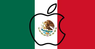 Apple Mexican flag logo