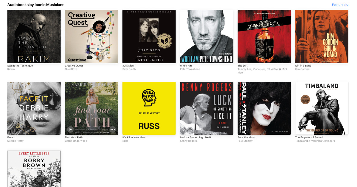 Free Audiobooks Apple Music