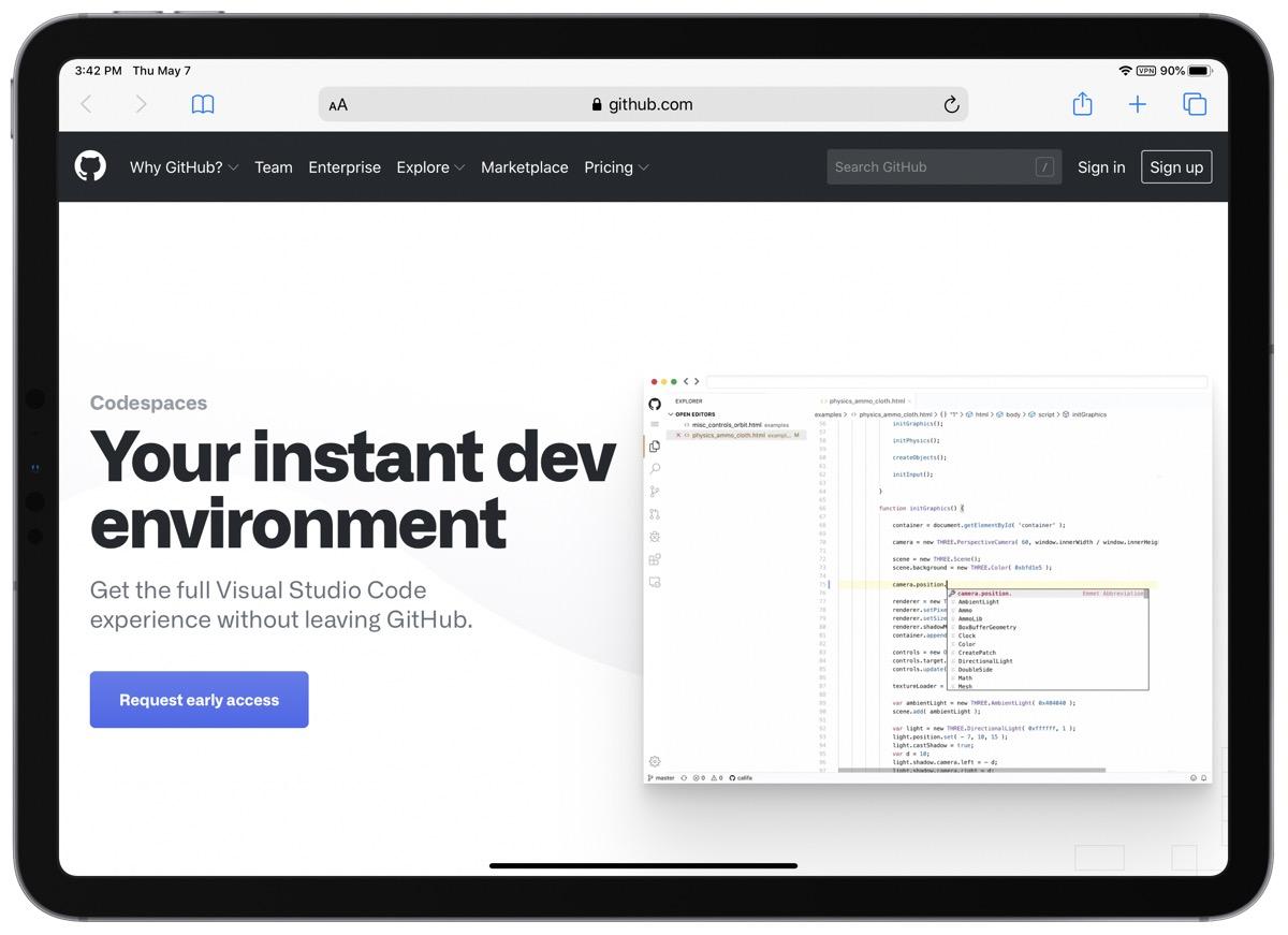 GitHub Codespaces Lets You Code Visual Studio on an iPad