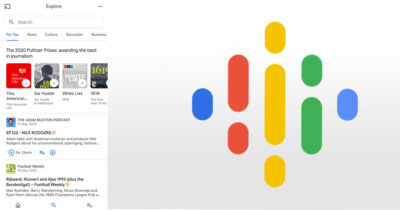 Google Podcasts on iPhone