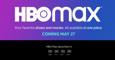 HBO Max logo and live launch countdown